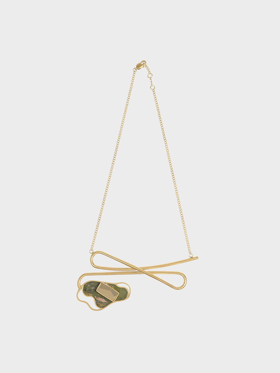 Unakite Stone Necklace, Sand, hi-res