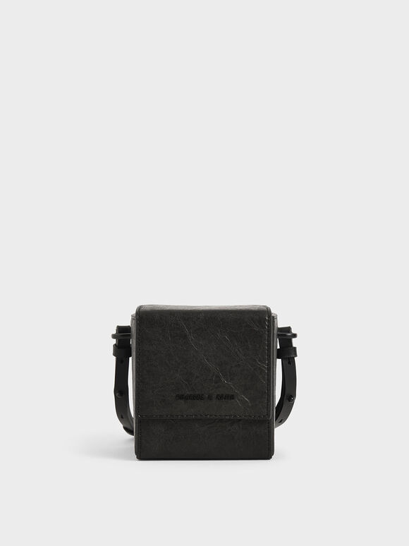 Boxy Crossbody Bag, Black, hi-res