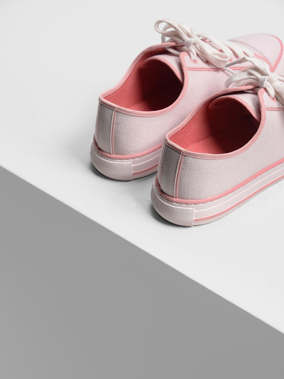 Candy Coloured Canvas Sneakers, Light Pink, hi-res