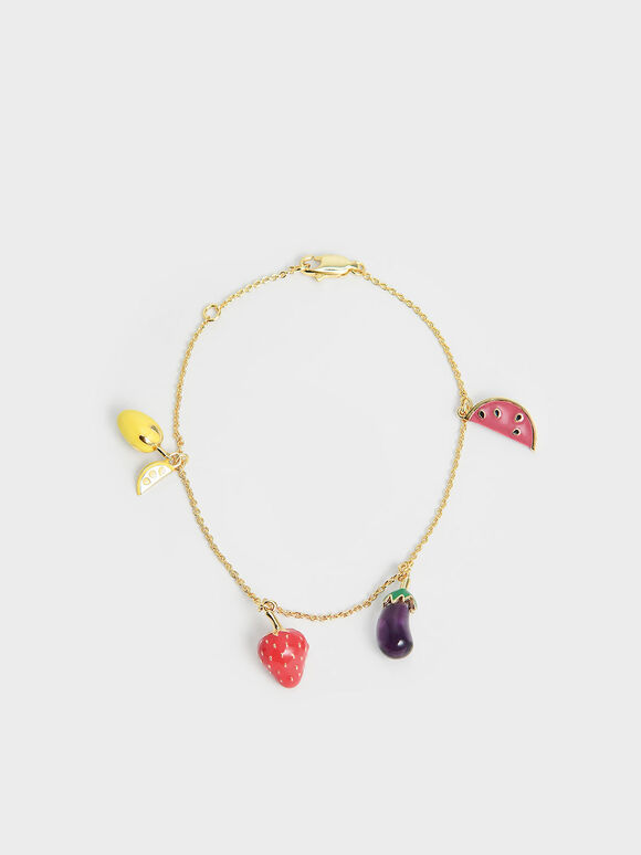 Fruits Beaded Bracelet, Multi, hi-res