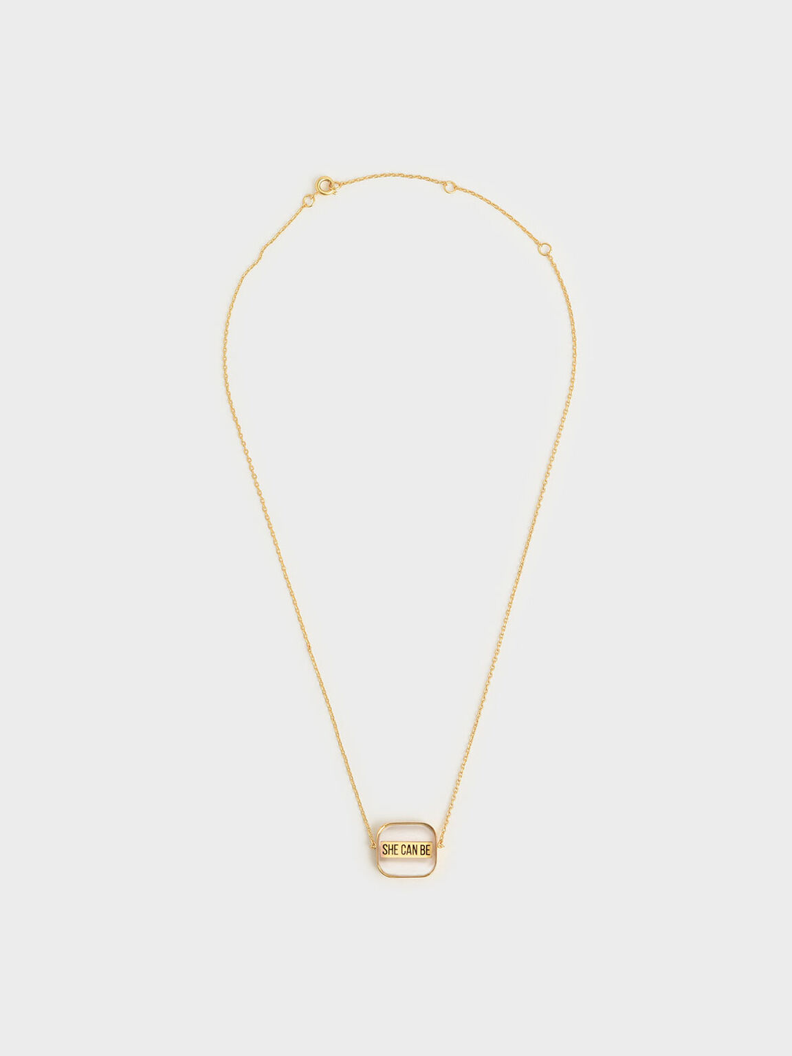"""She Can Be"" Necklace, Gold, hi-res"