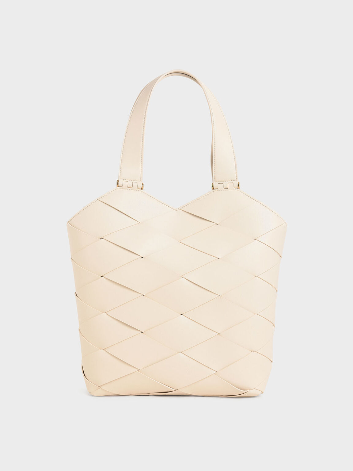 Woven Tote Bag, Chalk, hi-res