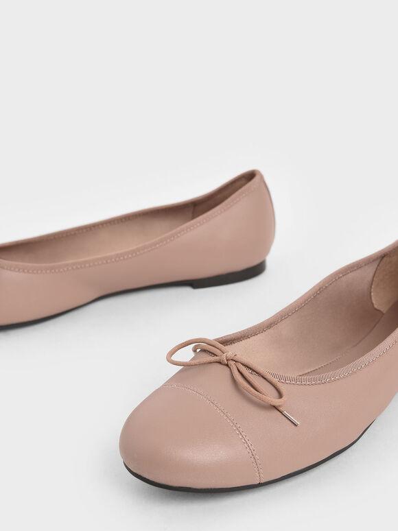 Bow Ballerinas, Pink, hi-res