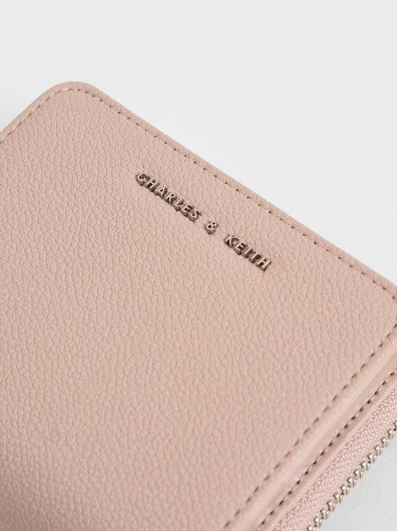 Small Zip-Around Wallet, Pink, hi-res