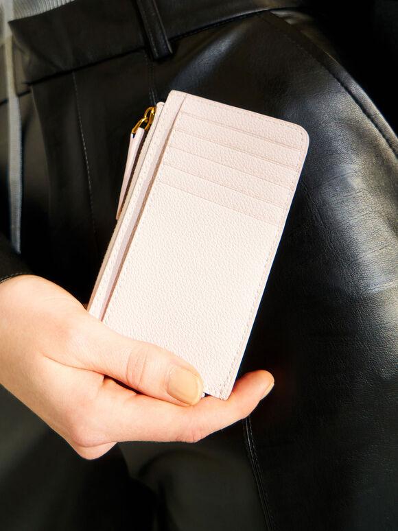 Zip Card Holder, Pink, hi-res