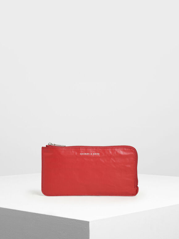 L-Zip Wallet, Red, hi-res