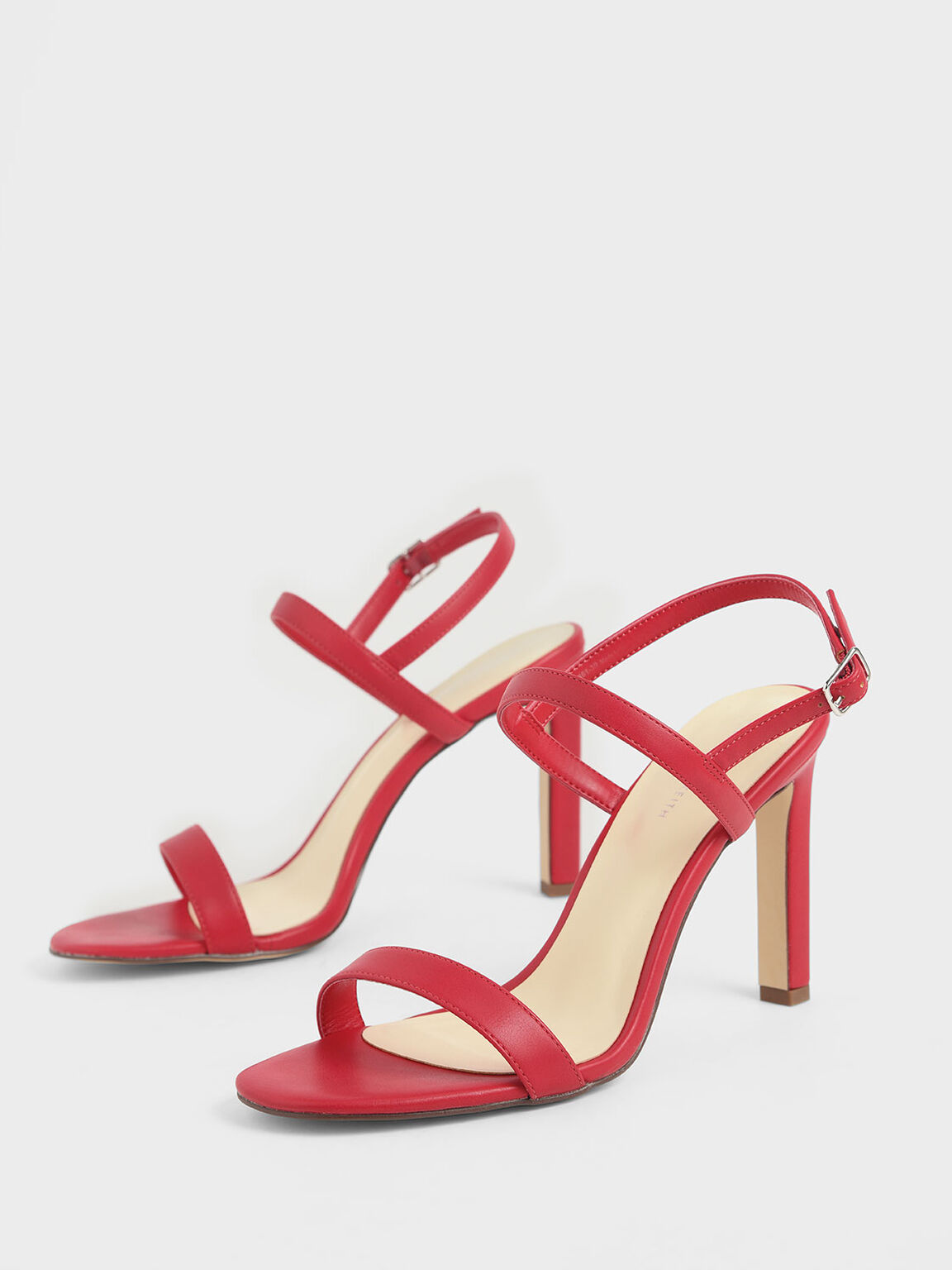 Slingback Stiletto Heel Sandals, Red, hi-res