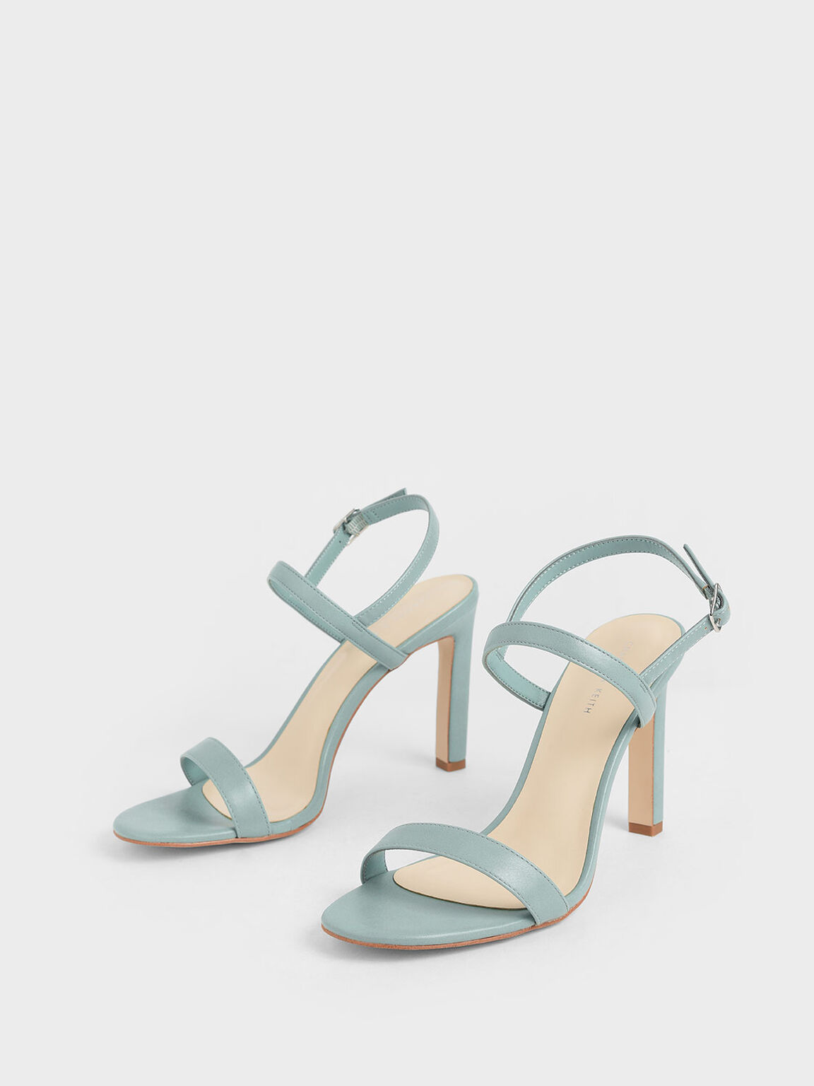 Slingback Stiletto Heel Sandals, Green, hi-res