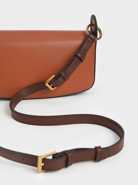 Coiled Top Handle Shoulder Bag, Cognac, hi-res