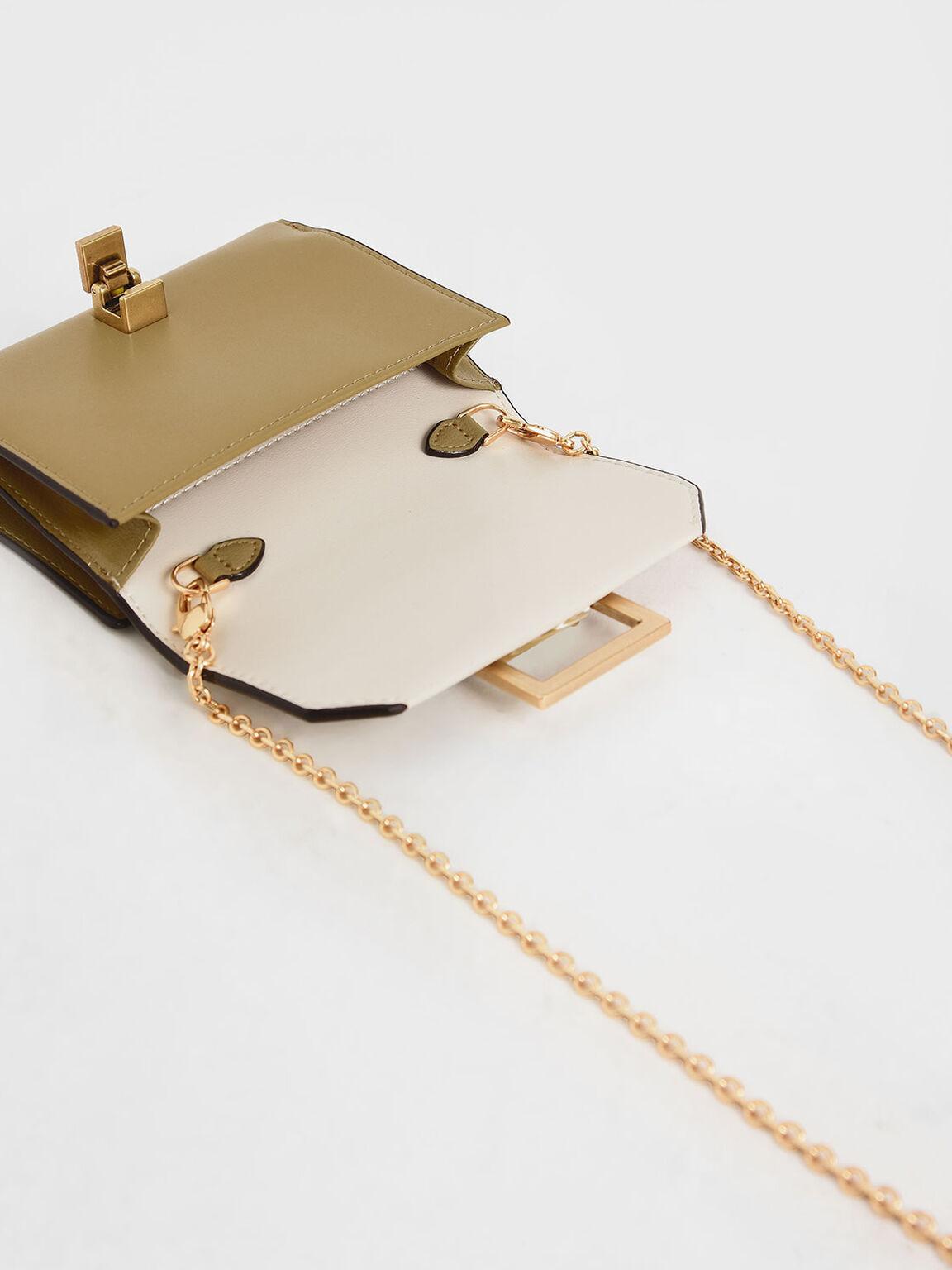 Metallic Accent Mini Wallet, Multi, hi-res