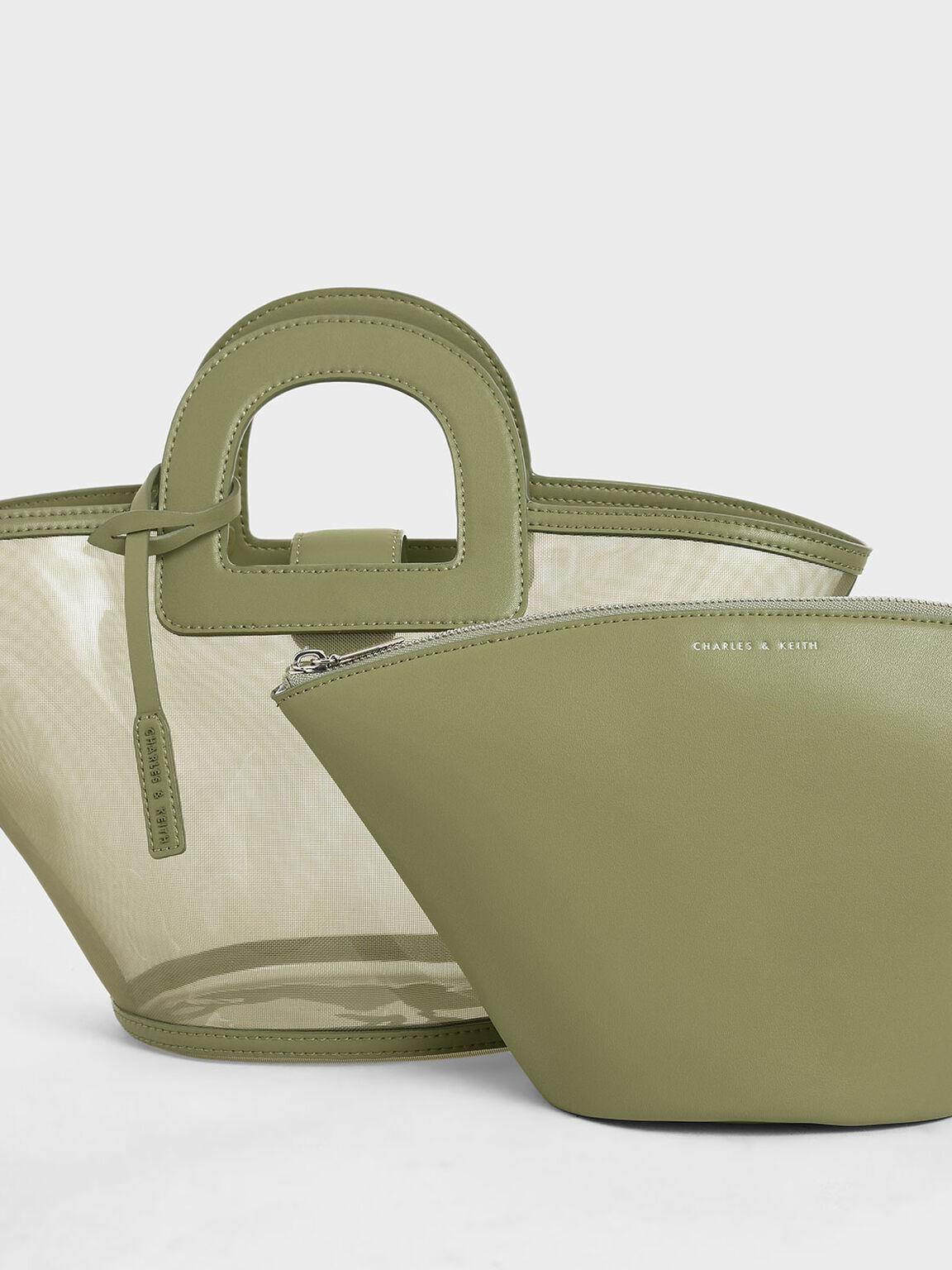 Mesh Trapeze Bag, Green, hi-res
