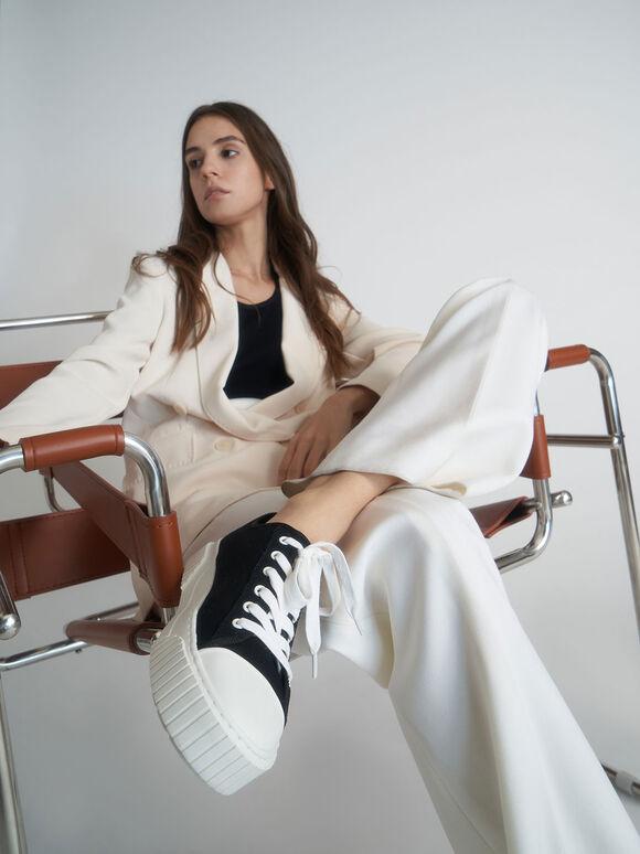Purpose Collection 2021: Organic Cotton Platform Sneakers, Black, hi-res