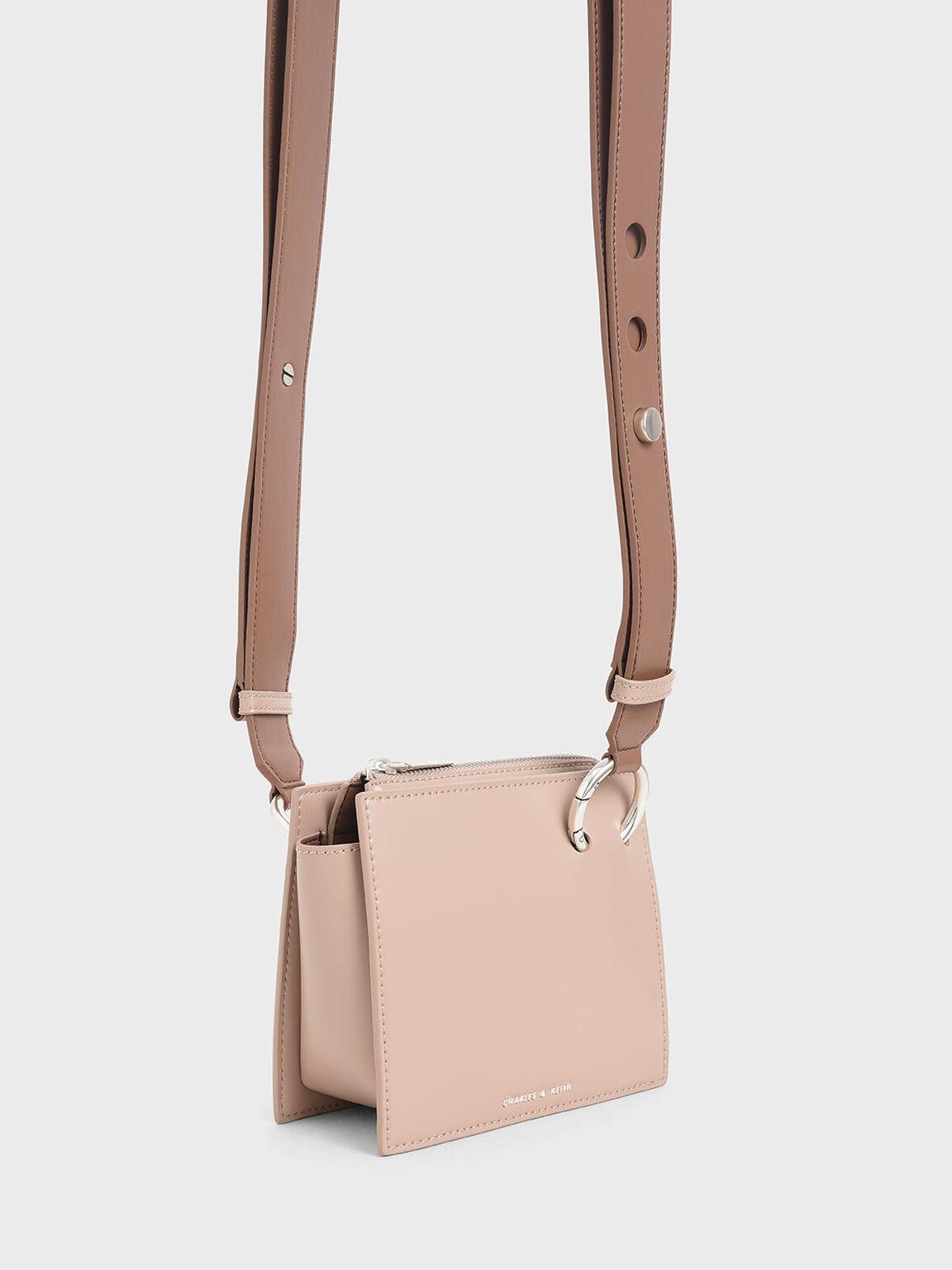 Square Crossbody Bag, Nude, hi-res