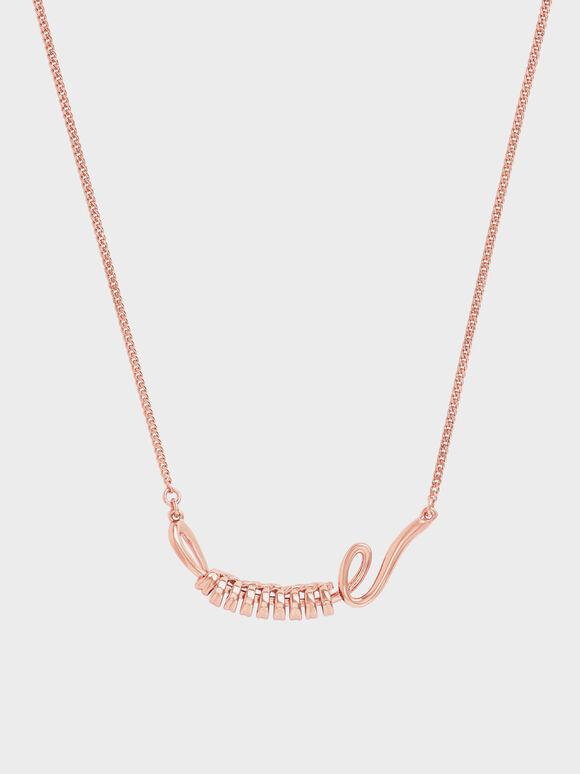 Twist Princess Necklace, Rose Gold, hi-res