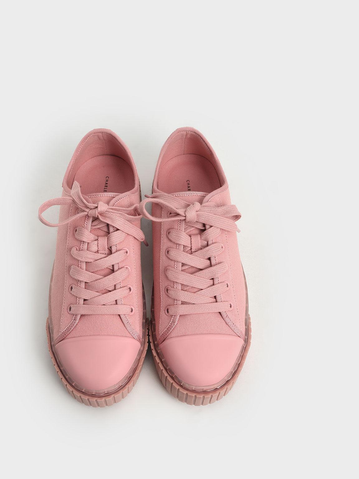 Purpose Collection 2021: Organic Cotton Platform Sneakers, Pink, hi-res