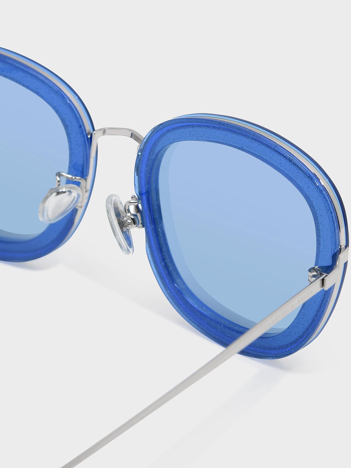 Acetate Frame Sunglasses, Blue, hi-res