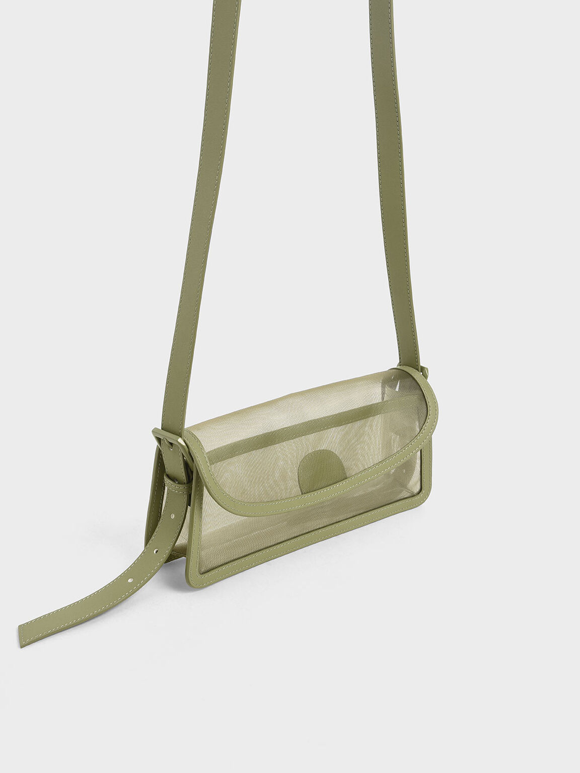 Mesh Shoulder Bag, Green, hi-res
