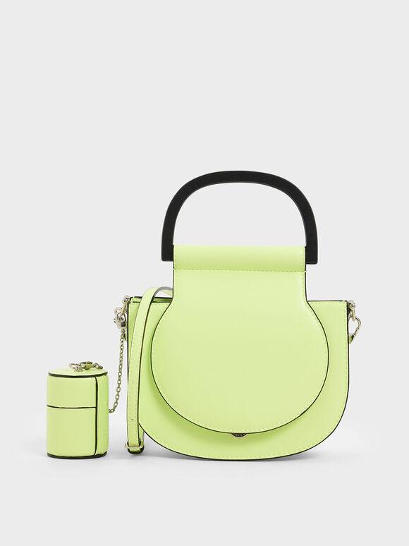 Mini Top Handle Saddle Bag, Yellow, hi-res
