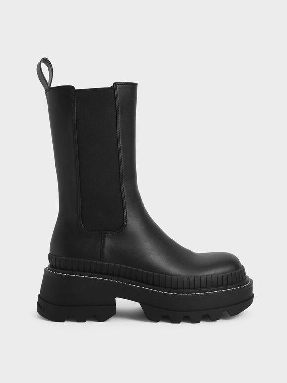Rhys Chelsea Calf Boots, Black, hi-res