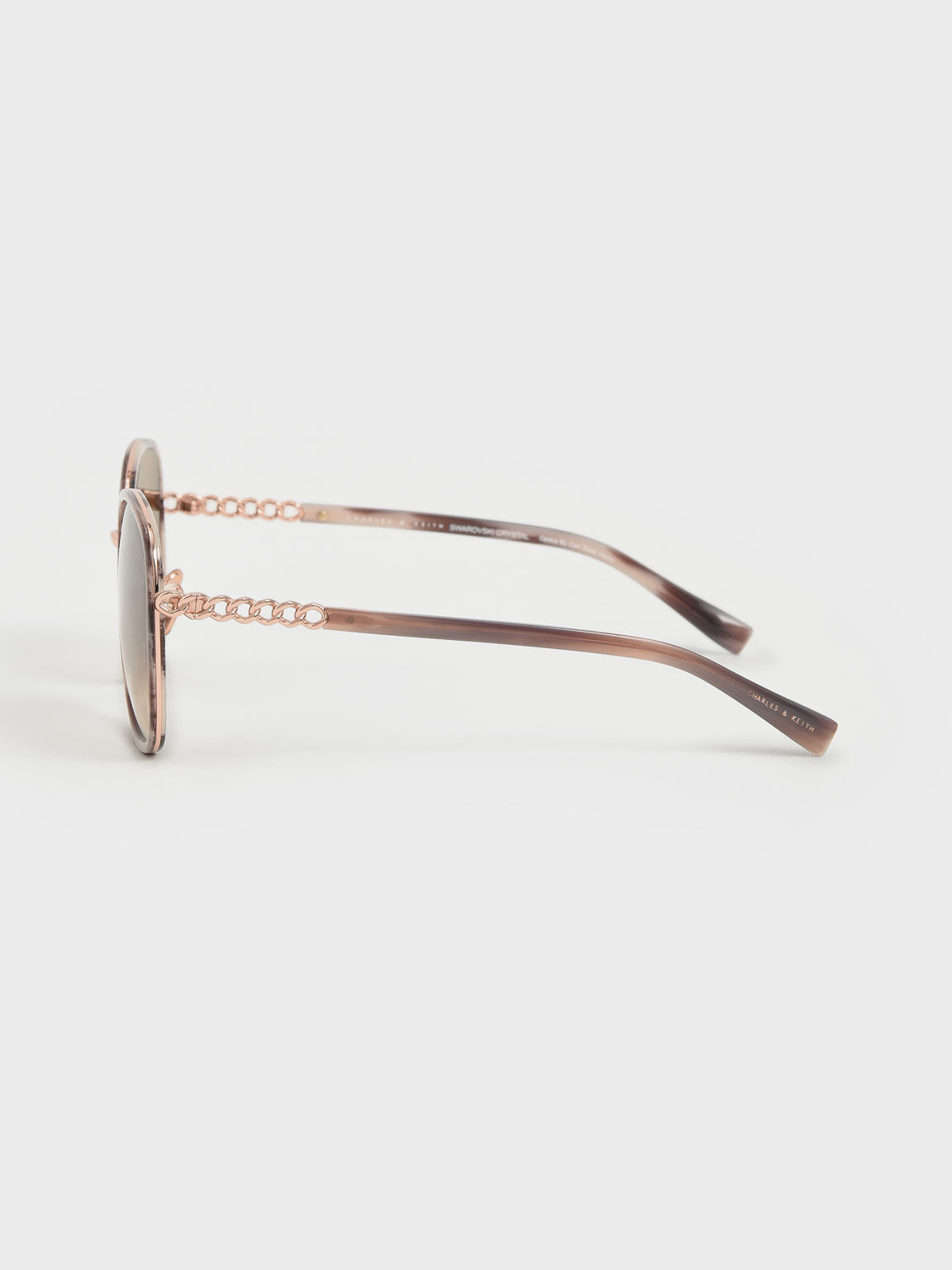 Braided Temple Butterfly Sunglasses, Pink, hi-res