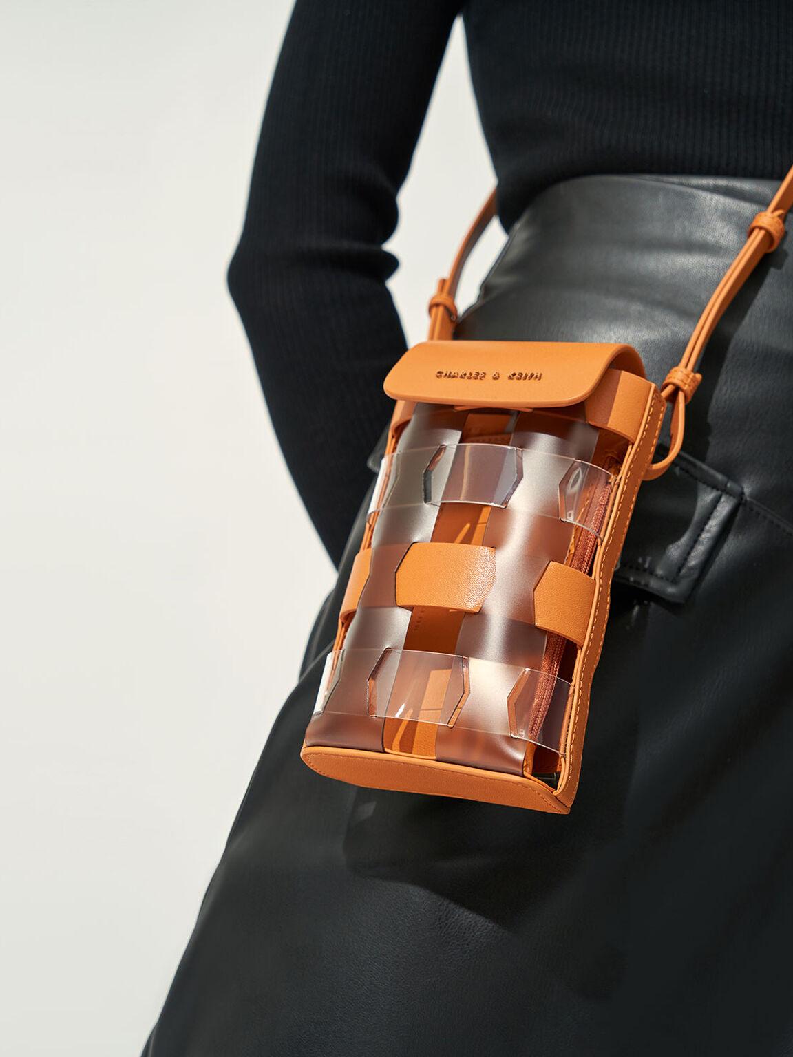 Mini Caged Pouch, Orange, hi-res