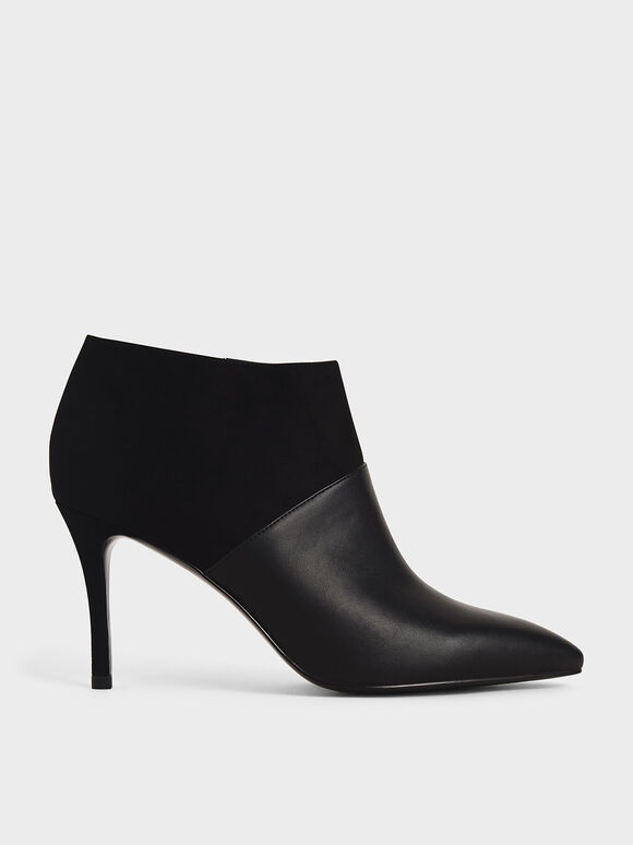 Stiletto Ankle Boots, Black, hi-res