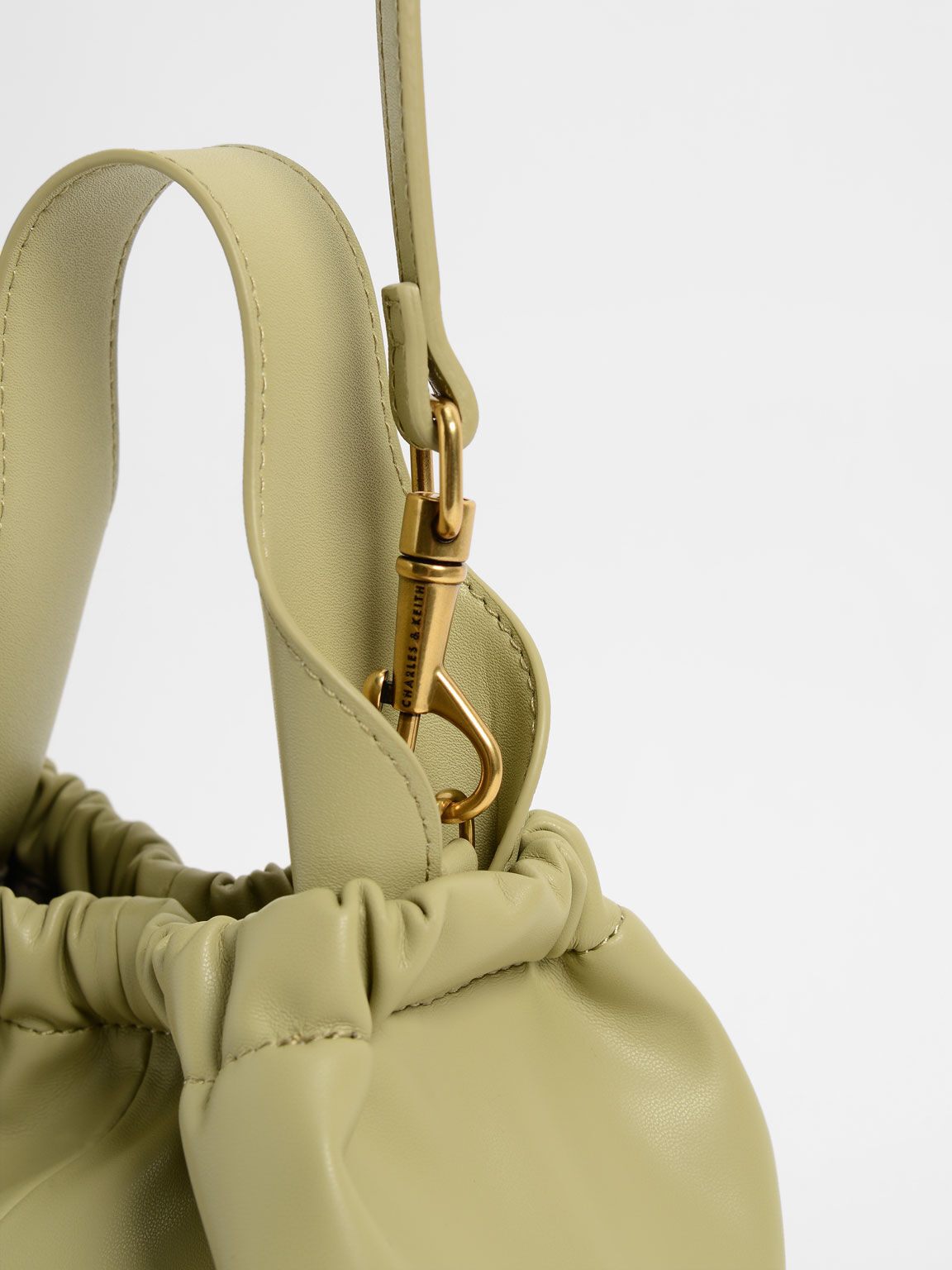 Pleated Hobo Bag, Taupe, hi-res