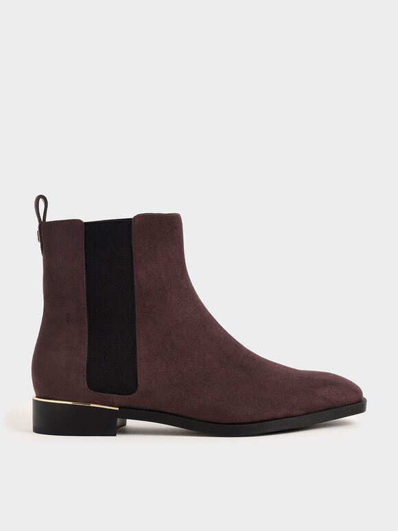 Textured Chelsea Boots, Purple, hi-res