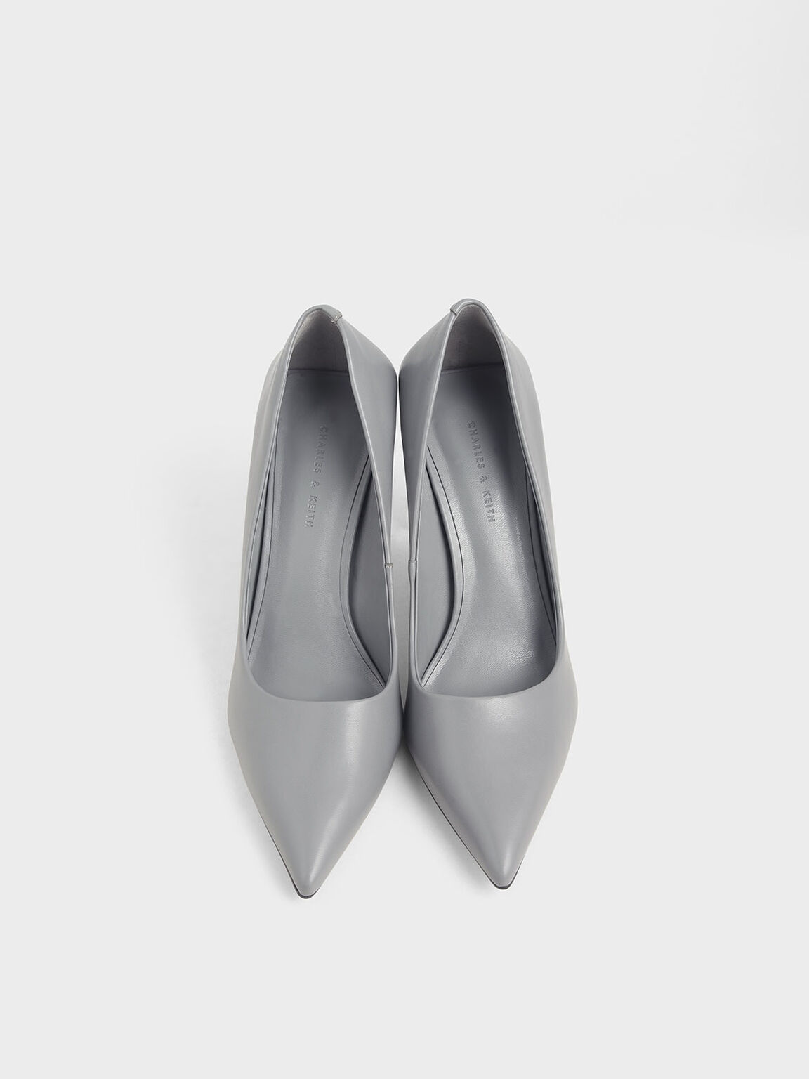 Blade Heel Pumps, Grey, hi-res