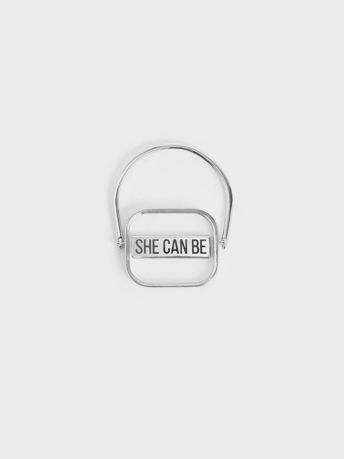 Purpose Collection - 'She Can Be' Ring, Silver, hi-res