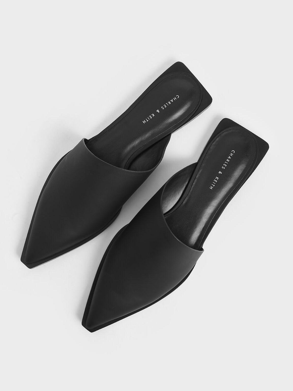 Asymmetric Mules, Black, hi-res