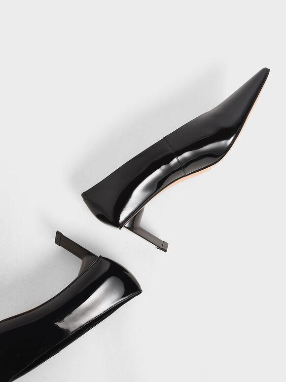 Patent Blade Heel Pumps, Black, hi-res