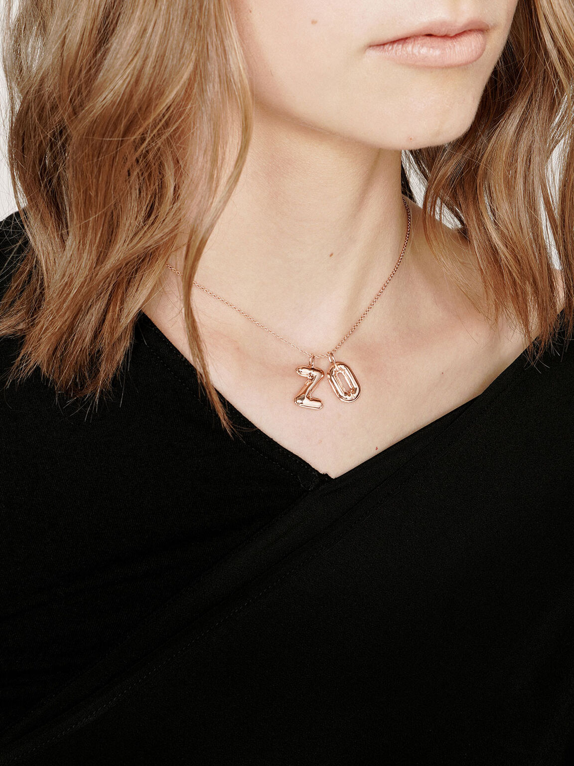 Alphabet 'Z' Charm, Rose Gold, hi-res