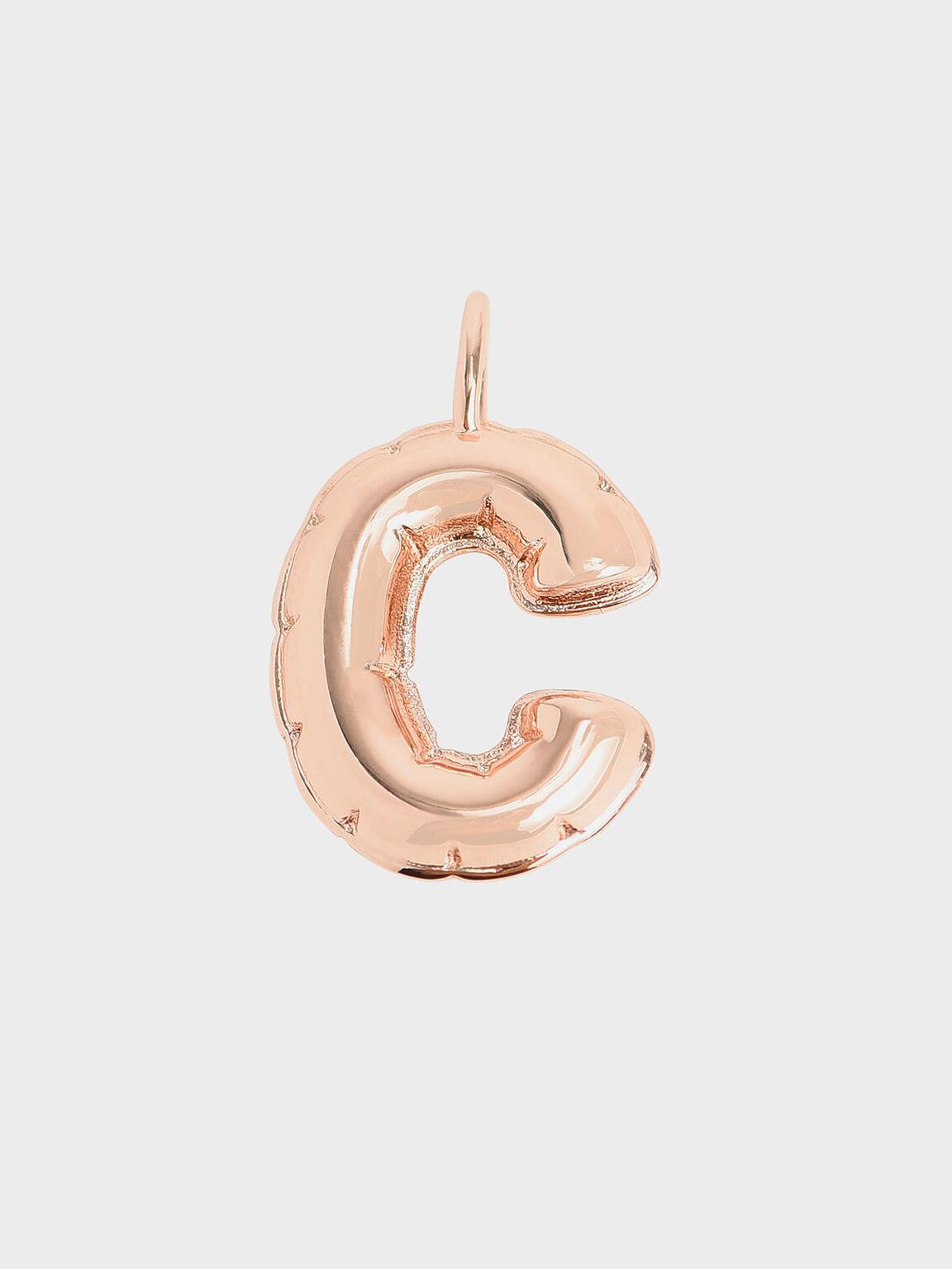 Alphabet 'C' Charm, Rose Gold, hi-res