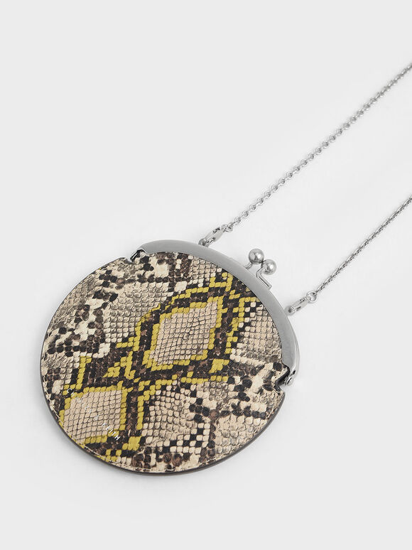 Snake Print Coin Pouch, Multi, hi-res