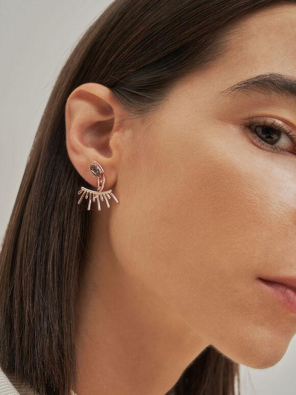 Swarovski® Crystal Stud Earrings, Rose Gold, hi-res