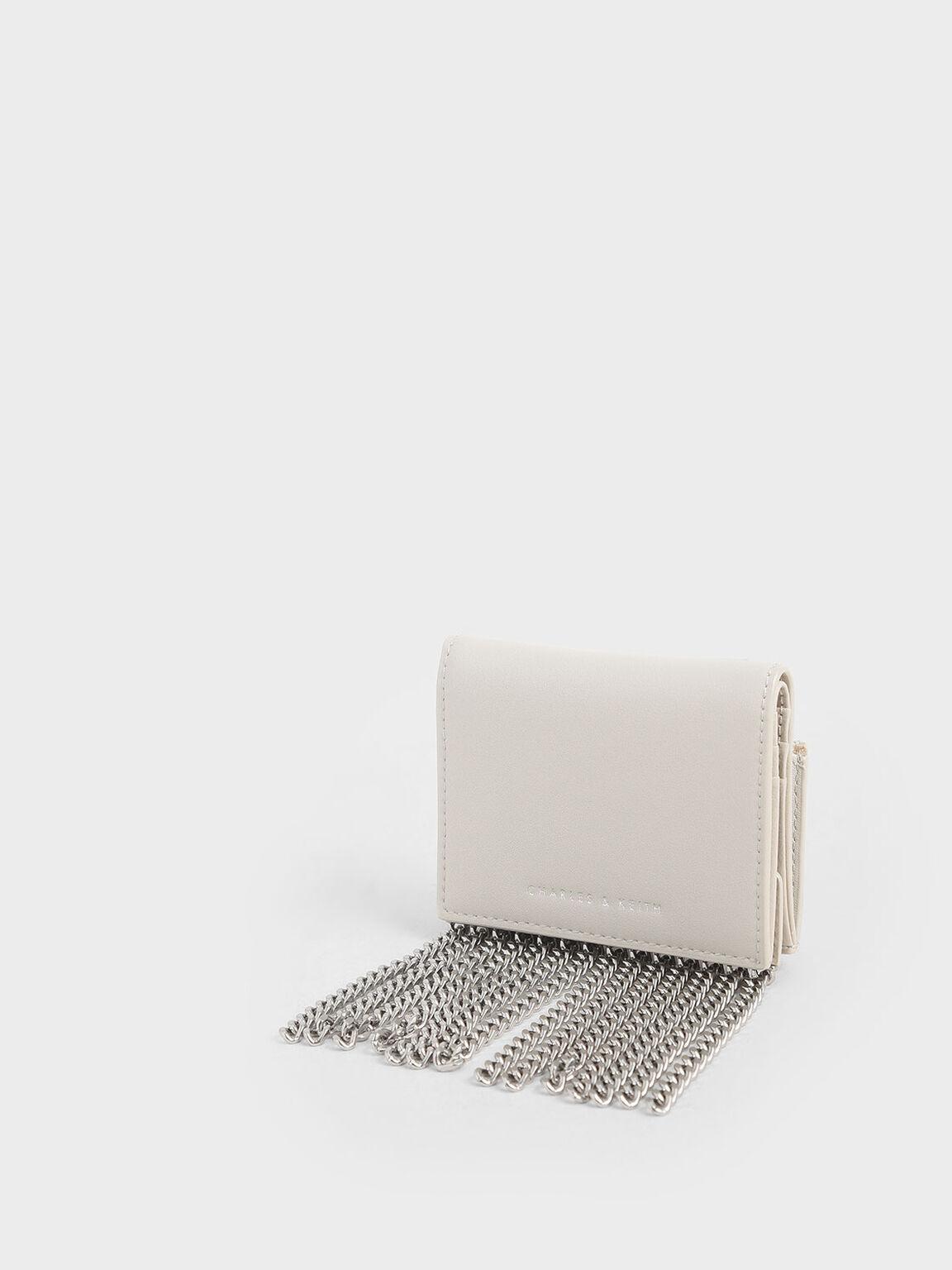 Chain Fringe Card Holder, Cream, hi-res