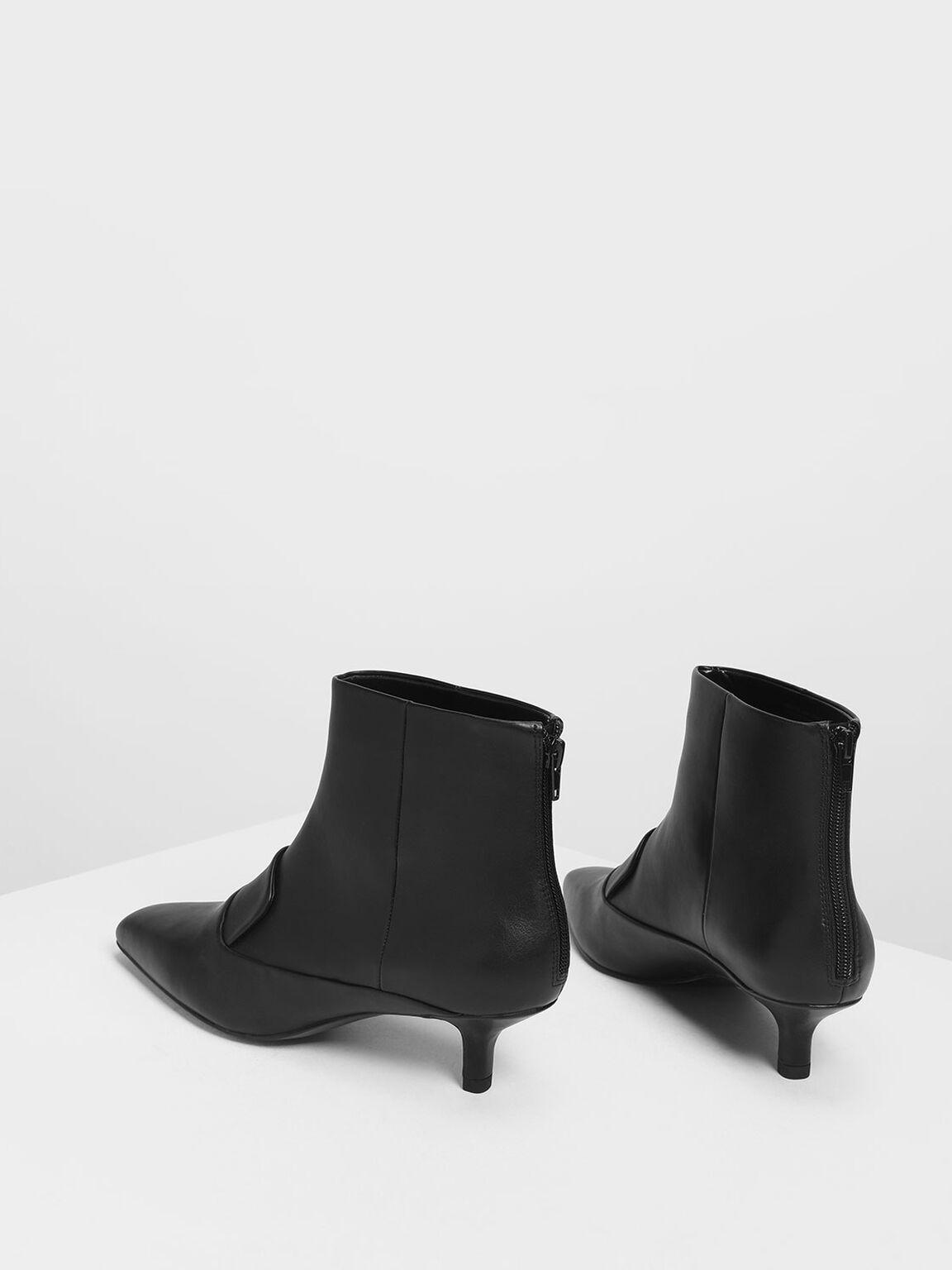 Loafer Detail Ankle Boots, Black, hi-res