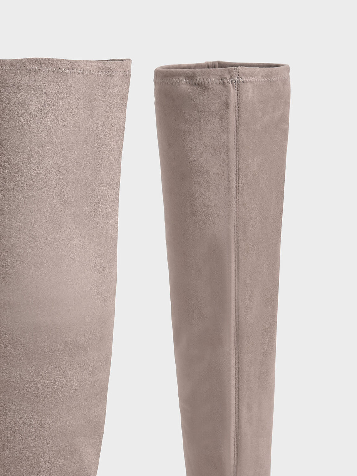 Textured Thigh High Boots, Taupe, hi-res
