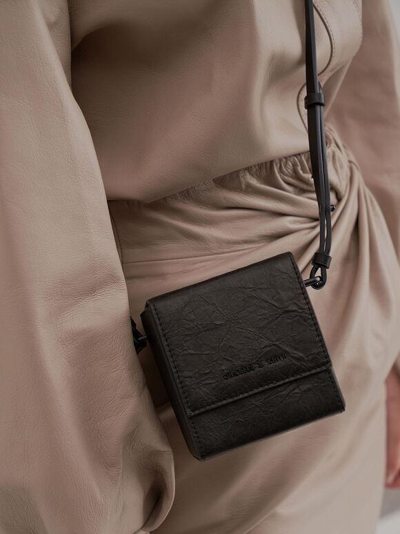 Boxy Crossbody Bag, Black, hi-res