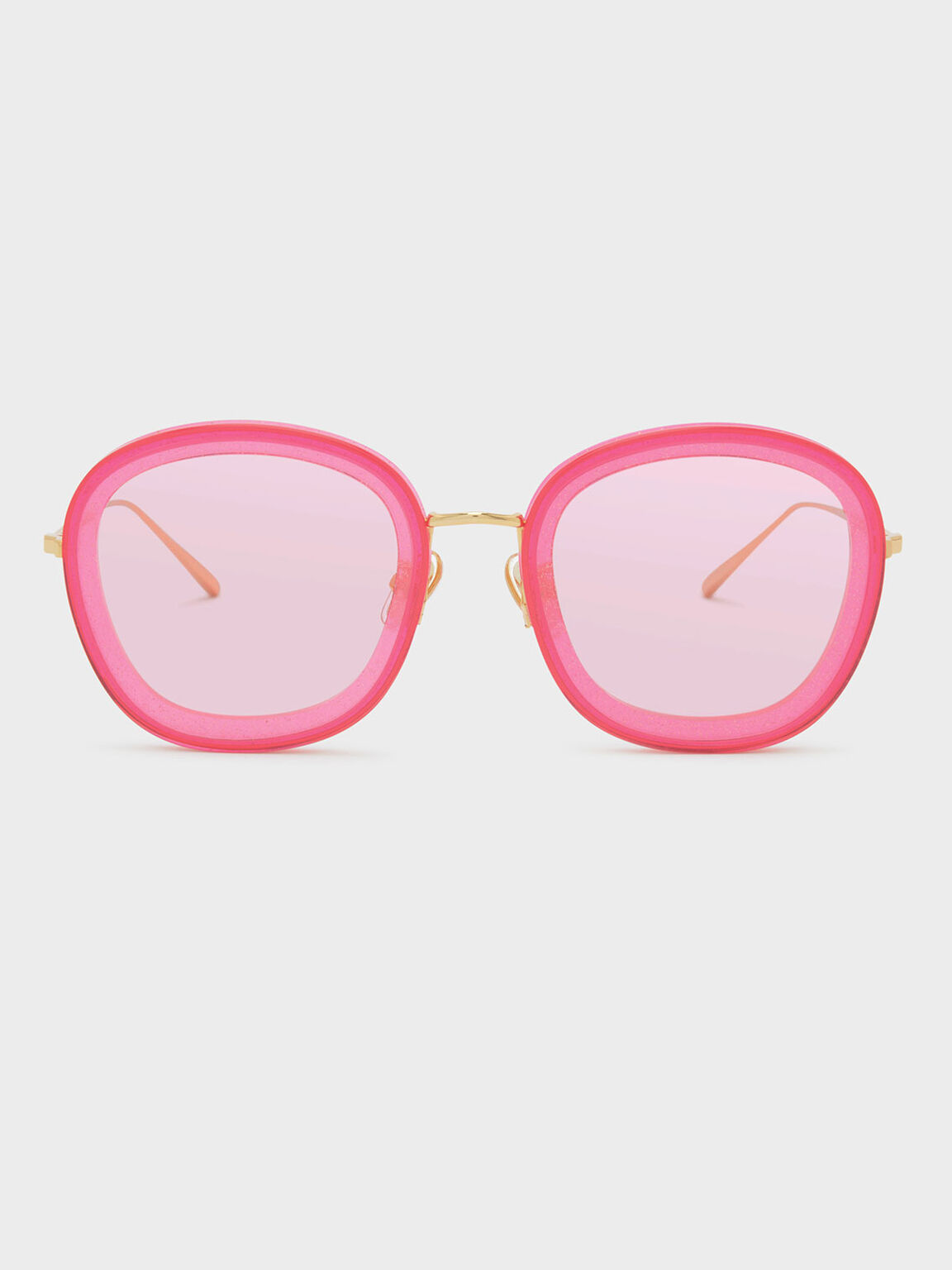 Acetate Butterfly Frame Shades, Pink, hi-res
