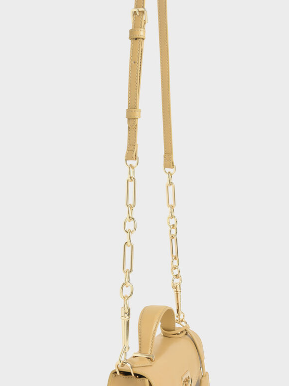 Trapeze Top Handle Bag, Yellow, hi-res