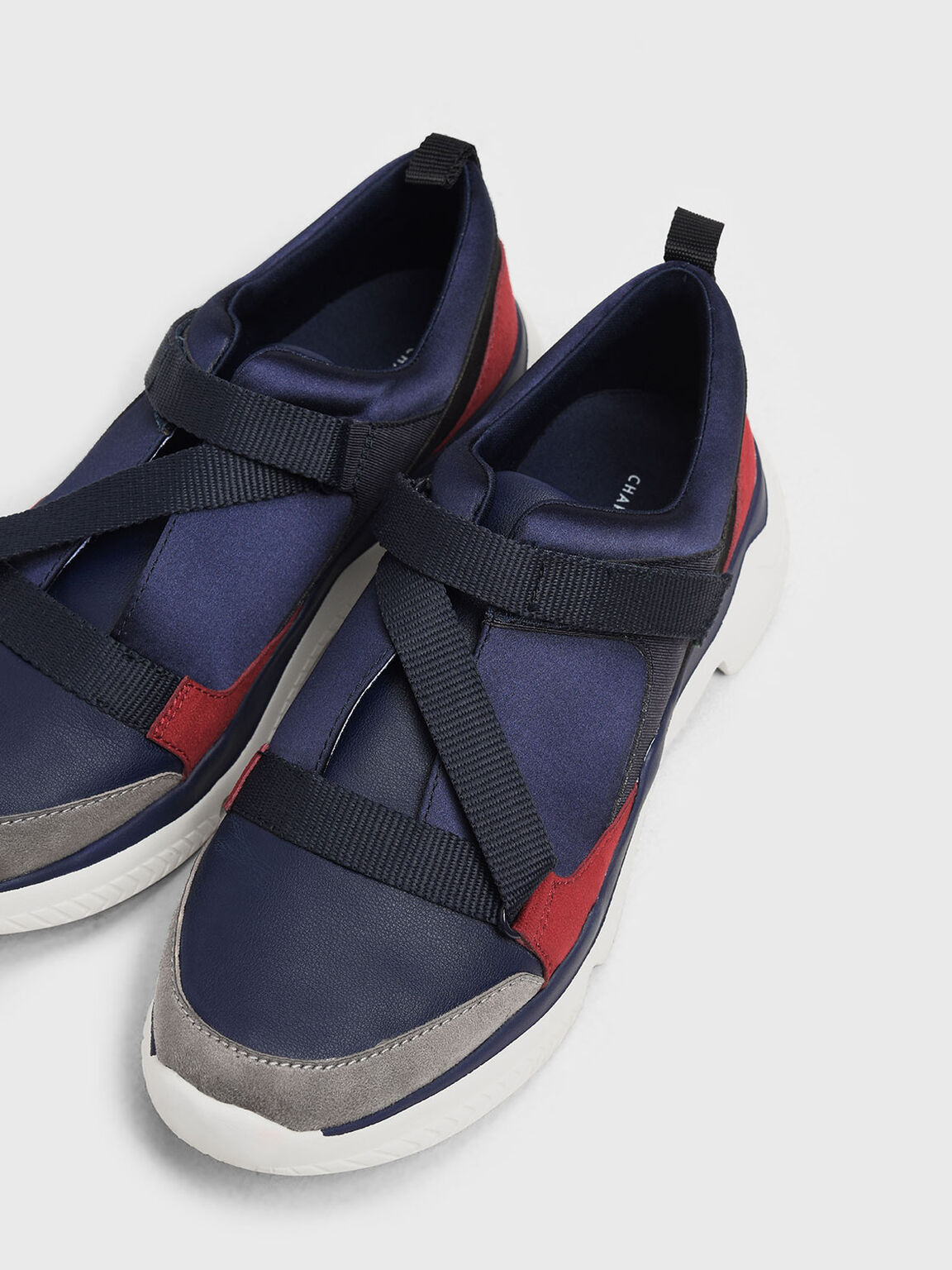 Velcro Slip-On Sneakers, Dark Blue, hi-res