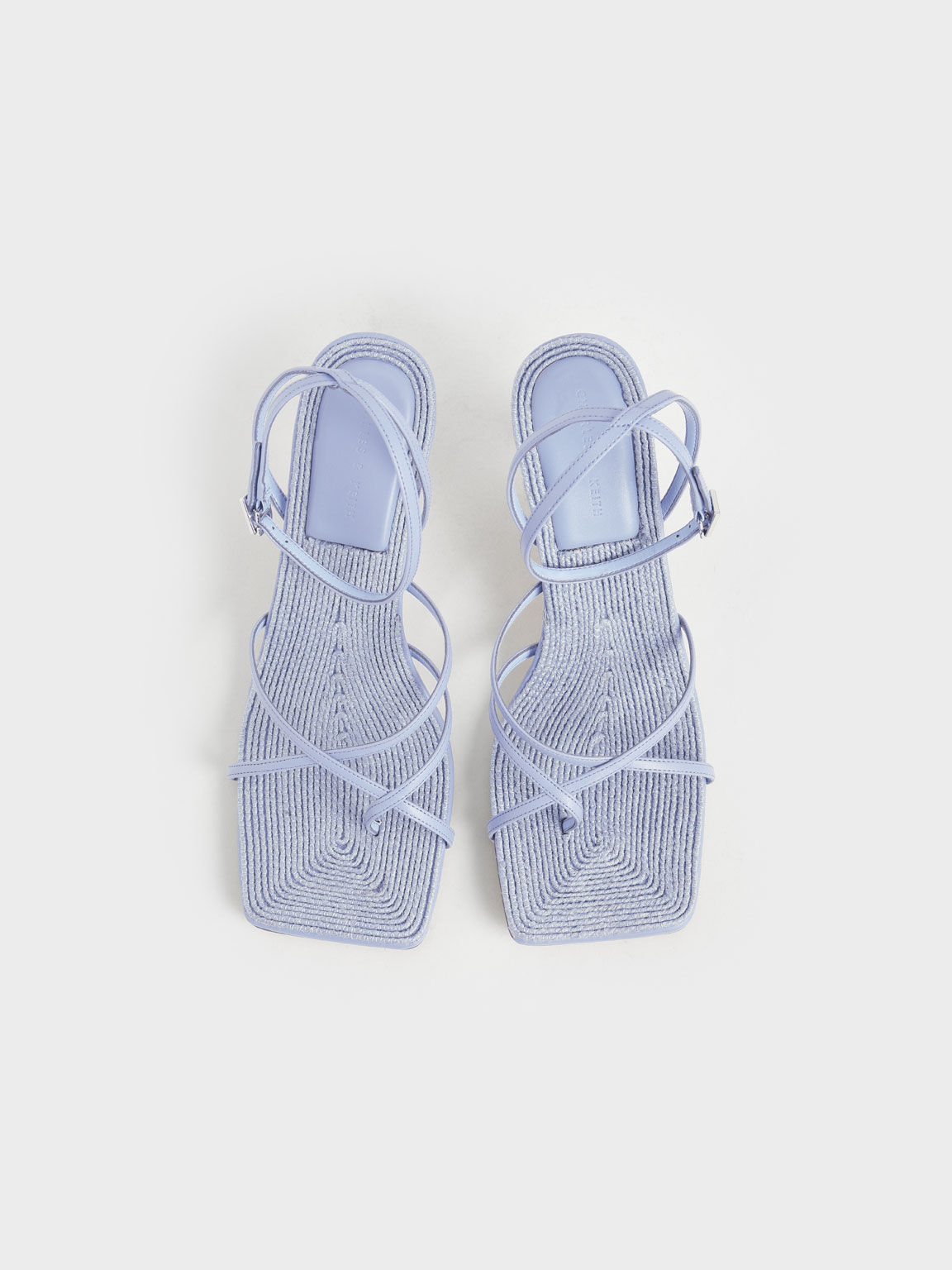 Ankle Strap Stiletto Sandals, Blue, hi-res