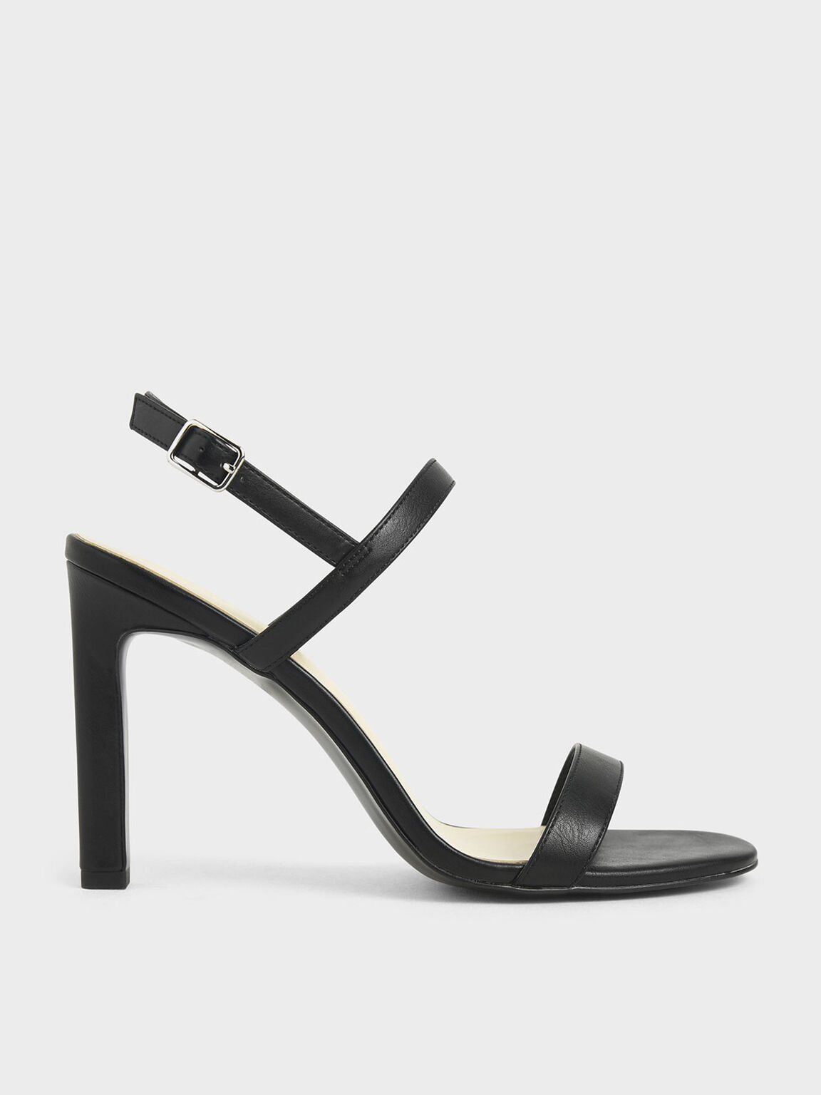 Slingback Stiletto Heel Sandals, Black, hi-res