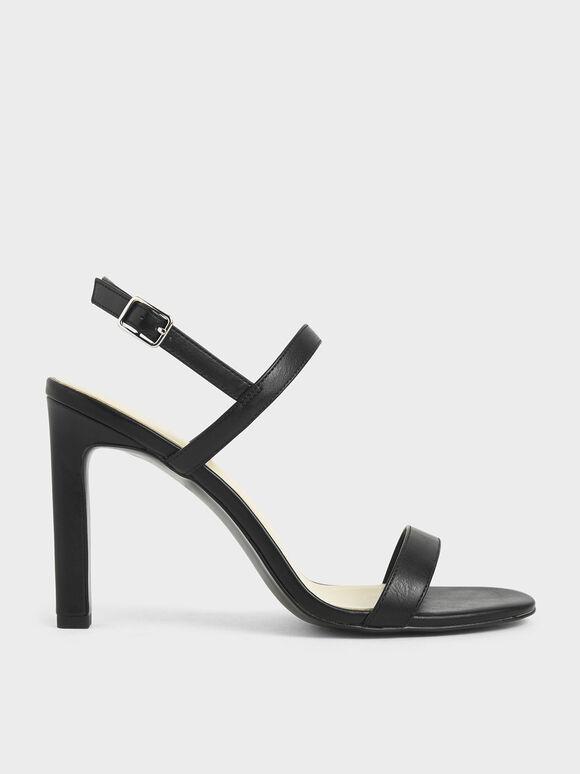 Slingback Stiletto Heel Sandals, Black, hi-res