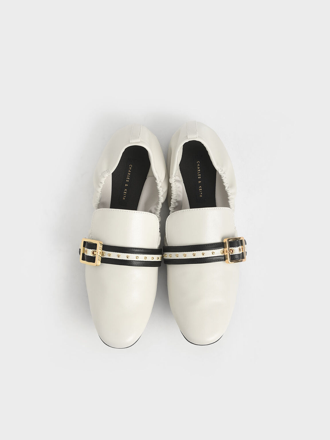 Studded Loafers, Chalk, hi-res