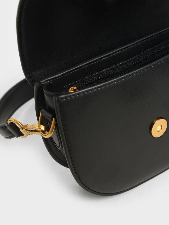 Mini Gabine Saddle Bag, Black, hi-res