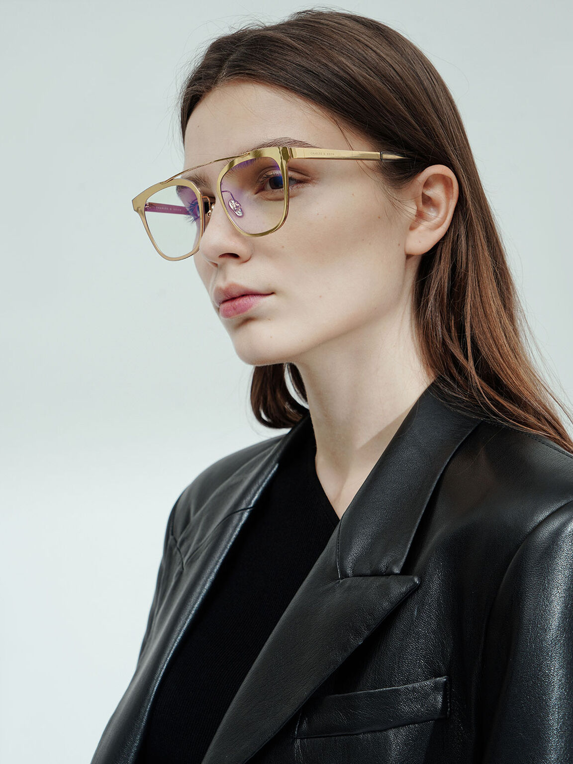 Metal Frame Sunglasses, Gold, hi-res