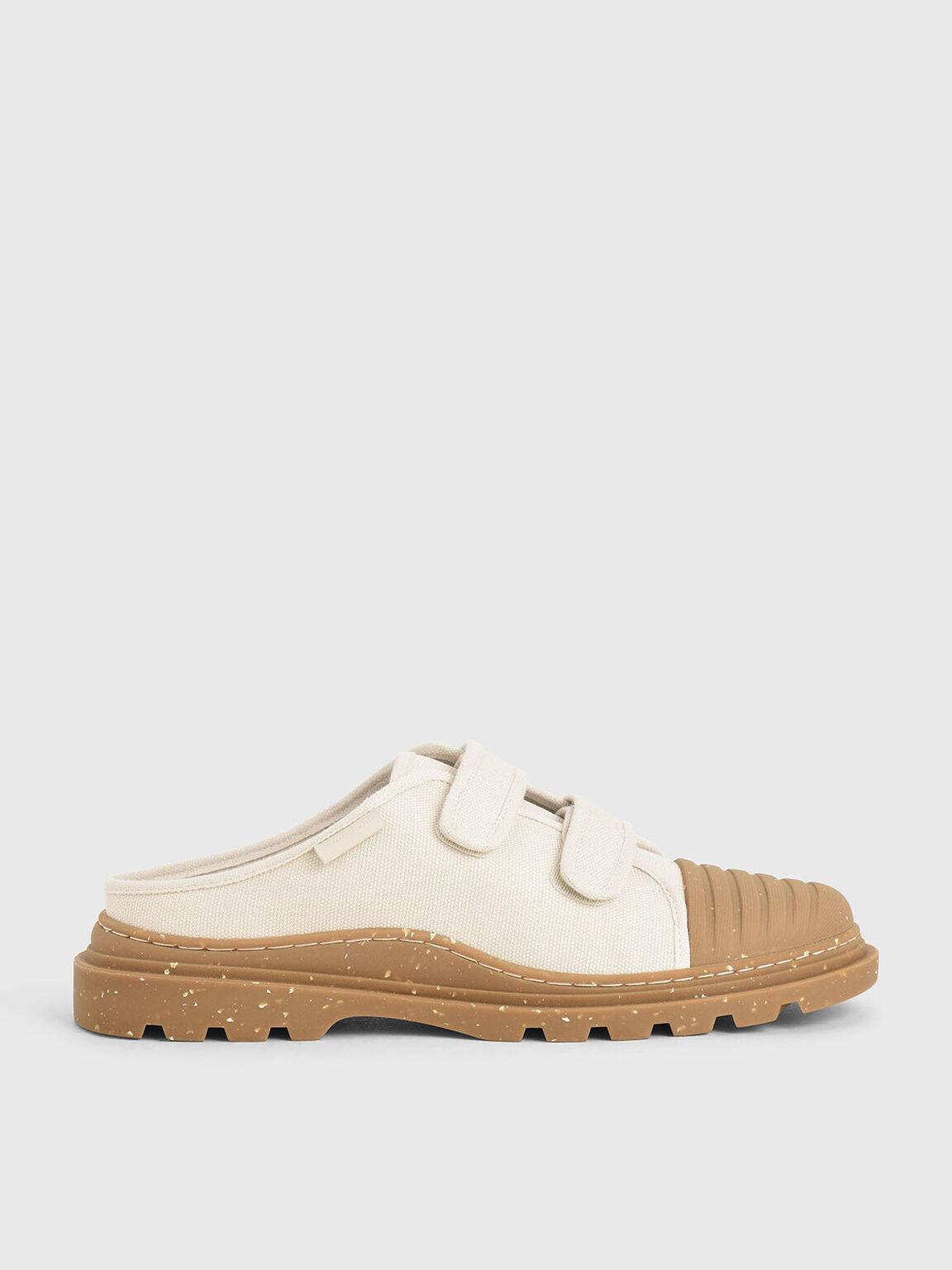 The Purpose Collection - Velcro Strap Sneaker Mules, Cream, hi-res